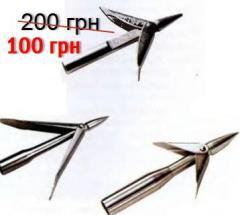 Harpoon of 1000 mm brilliant green + skolz plug
