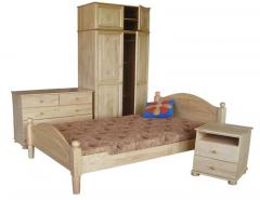Furniture for a bedroom from a natural tree