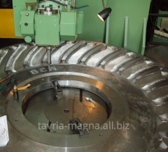 Compression molds for production of rubber