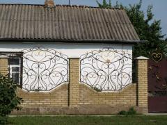 Забор кованный декоративный