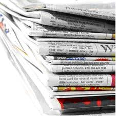Newspapers and magazines of a format from A5 to A2