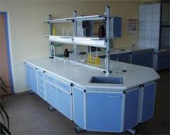 Лабораторная мебель; лабораторный стол; вытяжной