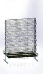 Rack mesh with baskets