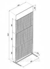 The rack is mesh floor