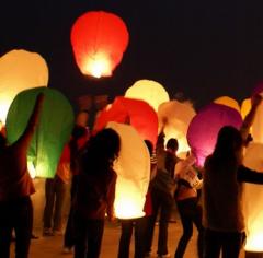 Китайские летающие небесные фонарики,