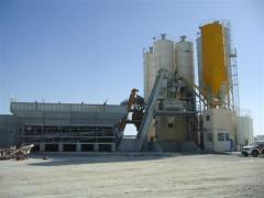Plants for preparation of cement-concrete mixes