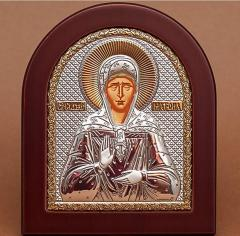 Icon of an arch form in a wooden frame Silver 925