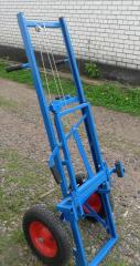 Apiary cart (apilift) TP-002 with polipoliuritanovy wheels (without pumping).