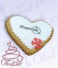 Souvenir gingerbread the Heart with log