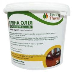 Льняное масло с воском для древесины 5 л