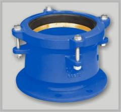 Connector blooming pipe flange