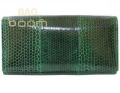 Кошелек из кожи морской змеи (NSN53Green)