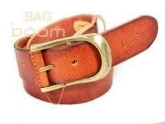 Кожаный джинсовый ремень  (DG-003br)