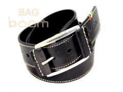 Leather men's belt (PS-409001)