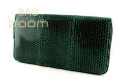 Женское портмоне из кожи морской змеи (N-7412 Green)