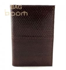 Обложка для паспорта из кожи змеи(N-231 brown)