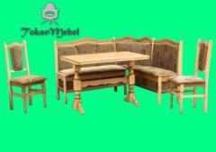 Деревянный кухонный уголок 1