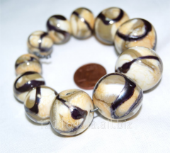 Beads for jewelry. Author's lampwork.