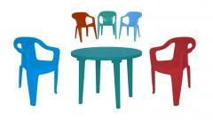 Plastic furniture for cafe