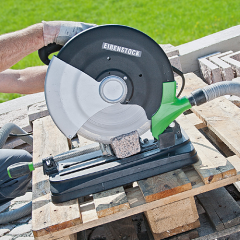 The machine for cutting of paving slabs of