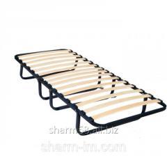 Folding bed on lamels