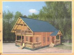 Production of houses from a wild felling Ukraine