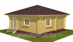 Деревянная дача, строительство из дикого сруба 53 м2 - 113 000 грн.