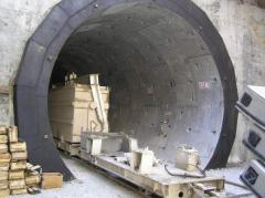 Timbering tunnel for construction of tunnels