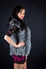 Fur vest from the silver fox Kharkiv (ZhCh001283