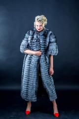 Fur coat from the silver fox from the...