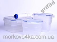 Набор вакуумных контейнеров для хранения еды