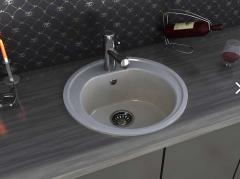 Мойка кухонная  модель ROMA цвет Nebbia