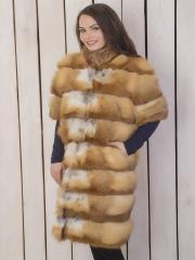 Пальто из меха лисы оптом Харьков Украина (ПЛ-1)