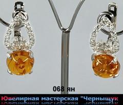 Серебряные сережки 068