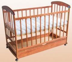 """Детская кроватка """"Наталка"""" для новорождённых,ясень, с ящиком"""