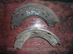 Тормозные колодки BPW для полуприцепа