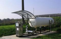 Equipment for automobile gas-filiing stations