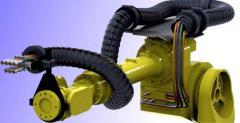 Гибкий кабель канал для роботов