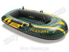 Double inflatable boat of SeaHawk for fishing