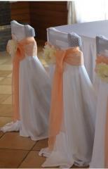 Чехол для стульев на свадьбу оранжевый