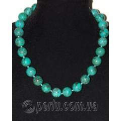 Beads from natural turquoise Imperial