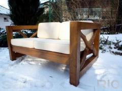 Wooden benches for the dacha Ukraine