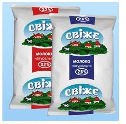 "Молоко ТМ ""Свіже"" в упаковке TFA"