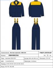 Builder — 2 suit husband. (jacket/semi-overalls)