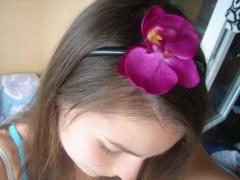 Hairpins and hoops with flowers