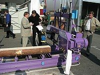 Power-saw bench tape PL750 for log sawing from