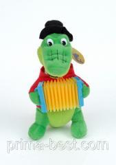 Музыкальная мягкая игрушка  Крокодил Гена