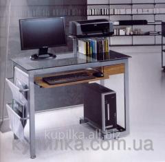 Стеклянный компьютерный стол высотой 91 см