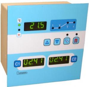 Control unit of the water thermostat electronic.