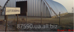 Hangars are arch beskarkasny